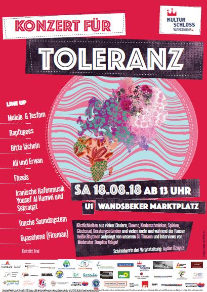 Konzert für Toleranz am 18.08.2018